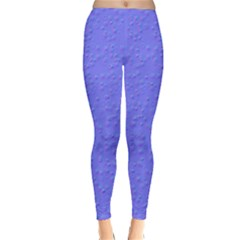 Ripples Blue Space Classic Winter Leggings