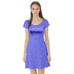 Ripples Blue Space Short Sleeve Skater Dress