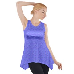 Ripples Blue Space Side Drop Tank Tunic