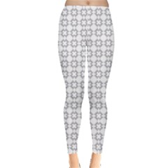 Violence Head On King Purple White Flower Leggings  by Alisyart