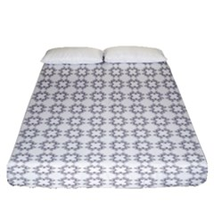 Violence Head On King Purple White Flower Fitted Sheet (queen Size) by Alisyart