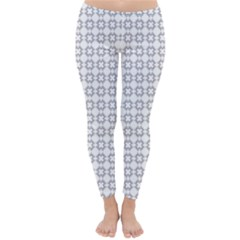 Violence Head On King Purple White Flower Classic Winter Leggings