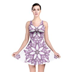 Frame Flower Star Purple Reversible Skater Dress by Alisyart