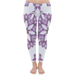 Frame Flower Star Purple Classic Winter Leggings