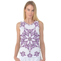 Frame Flower Star Purple Women s Basketball Tank Top