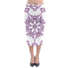 Frame Flower Star Purple Midi Pencil Skirt by Alisyart