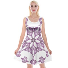 Frame Flower Star Purple Reversible Velvet Sleeveless Dress