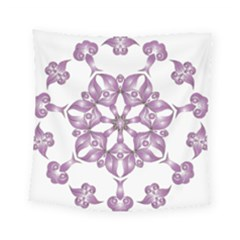 Frame Flower Star Purple Square Tapestry (small) by Alisyart