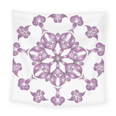 Frame Flower Star Purple Square Tapestry (large)