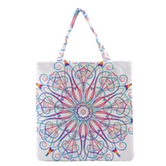 Frame Star Rainbow Love Heart Gold Purple Blue Grocery Tote Bag by Alisyart