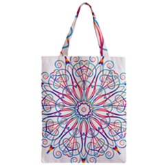 Frame Star Rainbow Love Heart Gold Purple Blue Zipper Classic Tote Bag by Alisyart