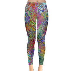Glass Rainbow Color Classic Winter Leggings