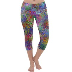 Glass Rainbow Color Capri Yoga Leggings by Alisyart