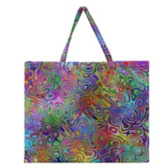 Glass Rainbow Color Zipper Large Tote Bag by Alisyart