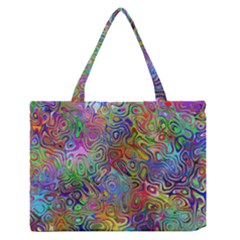 Glass Rainbow Color Medium Zipper Tote Bag by Alisyart