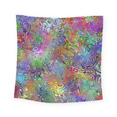 Glass Rainbow Color Square Tapestry (small) by Alisyart
