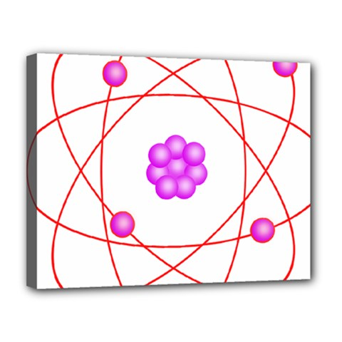 Atom Physical Chemistry Line Red Purple Space Canvas 14  X 11  by Alisyart