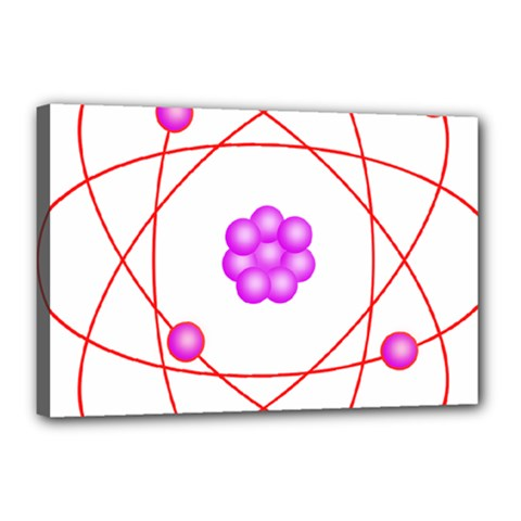 Atom Physical Chemistry Line Red Purple Space Canvas 18  X 12  by Alisyart
