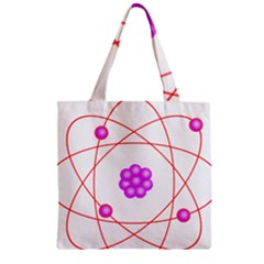 Atom Physical Chemistry Line Red Purple Space Zipper Grocery Tote Bag by Alisyart