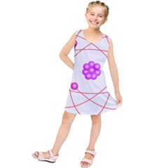 Atom Physical Chemistry Line Red Purple Space Kids  Tunic Dress by Alisyart