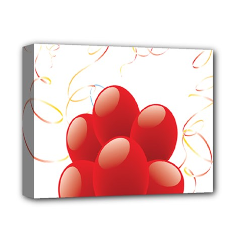 Balloon Partty Red Deluxe Canvas 14  X 11  by Alisyart