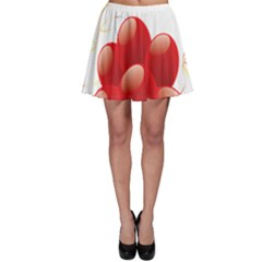 Balloon Partty Red Skater Skirt by Alisyart
