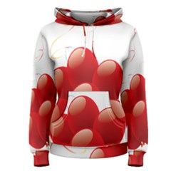 Balloon Partty Red Women s Pullover Hoodie