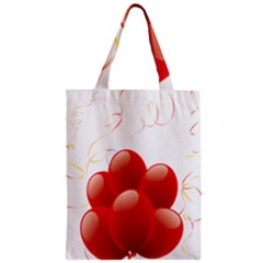 Balloon Partty Red Zipper Classic Tote Bag by Alisyart