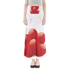 Balloon Partty Red Maxi Skirts