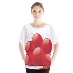 Balloon Partty Red Blouse by Alisyart