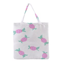 Candy Pink Blue Sweet Grocery Tote Bag by Alisyart