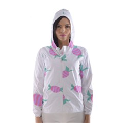 Candy Pink Blue Sweet Hooded Wind Breaker (women) by Alisyart