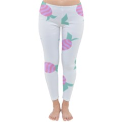 Candy Pink Blue Sweet Classic Winter Leggings