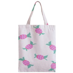 Candy Pink Blue Sweet Zipper Classic Tote Bag
