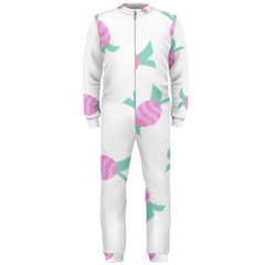 Candy Pink Blue Sweet Onepiece Jumpsuit (men)  by Alisyart