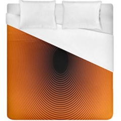 Abstract Circle Hole Black Orange Line Duvet Cover (king Size) by Alisyart