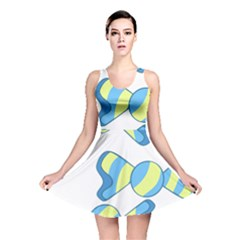 Candy Yellow Blue Reversible Skater Dress by Alisyart