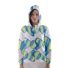 Candy Yellow Blue Hooded Wind Breaker (women)