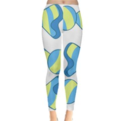 Candy Yellow Blue Classic Winter Leggings