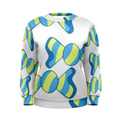 Candy Yellow Blue Women s Sweatshirt by Alisyart