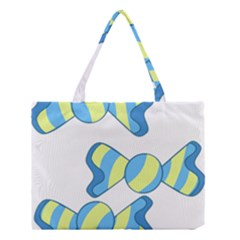 Candy Yellow Blue Medium Tote Bag