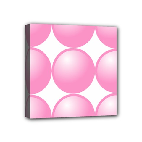 Circle Pink Mini Canvas 4  X 4  by Alisyart