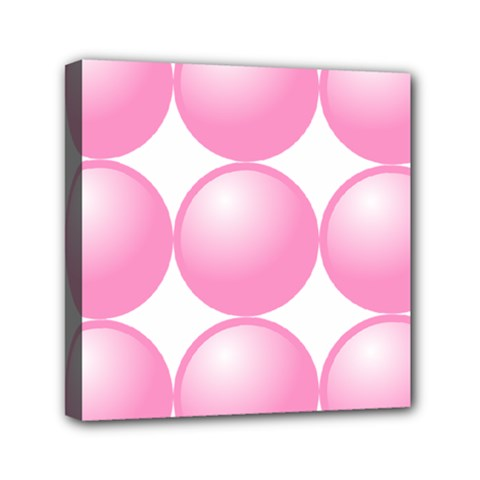Circle Pink Mini Canvas 6  X 6  by Alisyart