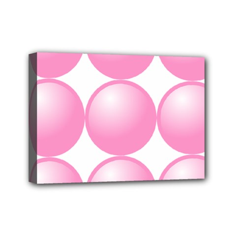 Circle Pink Mini Canvas 7  X 5  by Alisyart