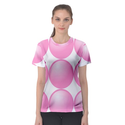 Circle Pink Women s Sport Mesh Tee by Alisyart