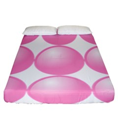 Circle Pink Fitted Sheet (california King Size)