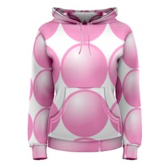 Circle Pink Women s Pullover Hoodie