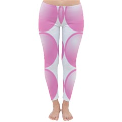 Circle Pink Classic Winter Leggings