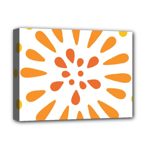 Circle Orange Deluxe Canvas 16  X 12   by Alisyart