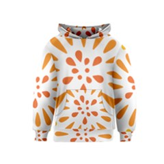 Circle Orange Kids  Pullover Hoodie by Alisyart